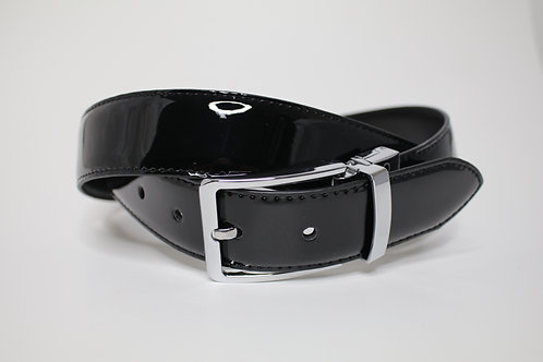 REVERSIBLE LEATHER BELT - SILVER