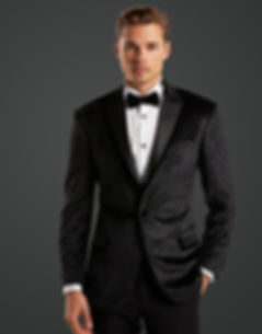 Mens Black Velvt Wedding Suit