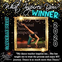 1st Winner: Gabrielle Perry