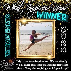 2nd Winner: Bethany Hartis