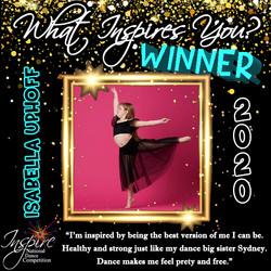 6th Winner: Isabella Uphoff