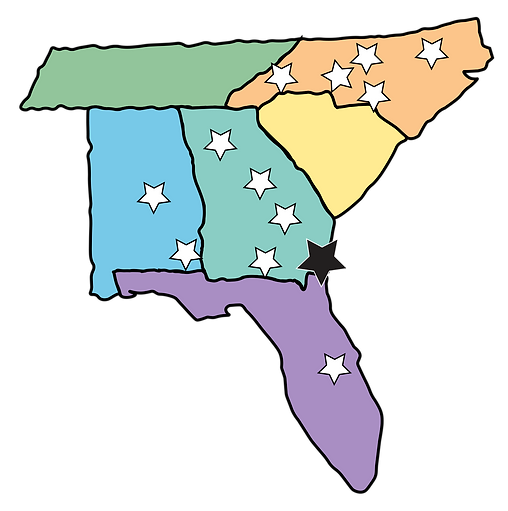 Southern States with Stars 2019.png