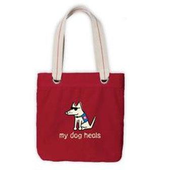 My Dog Heals - Canvas Tote Bag