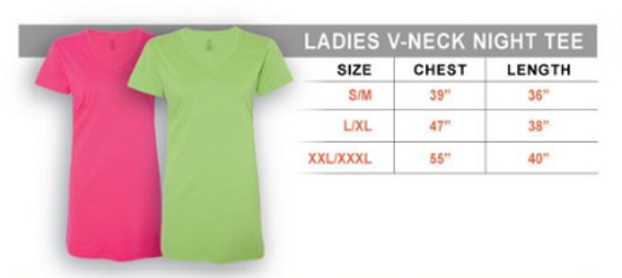 Ladies V neck size chart.PNG