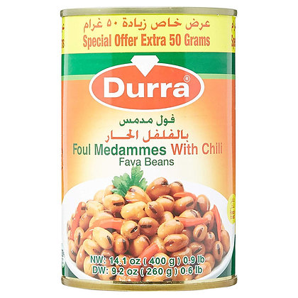 Durra - Foul Medammes s Čili (fava fazuľa)