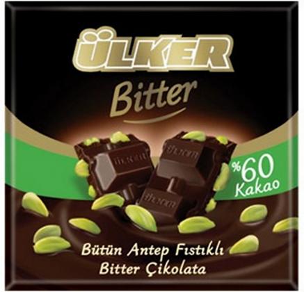 Ülker -Tmavá čokoláda s pistáciami, 70g