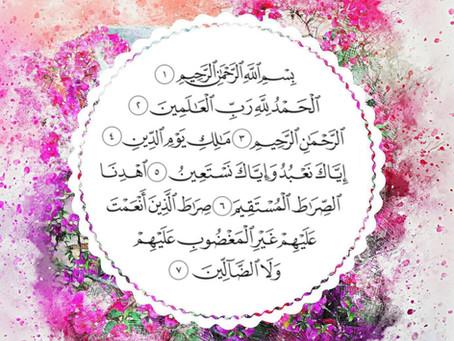 Jedinečnosť kapitoly Al Fatiha