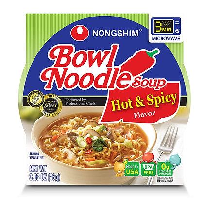 Nongshim - Instantné Nudle v miske -pálivé a korenené