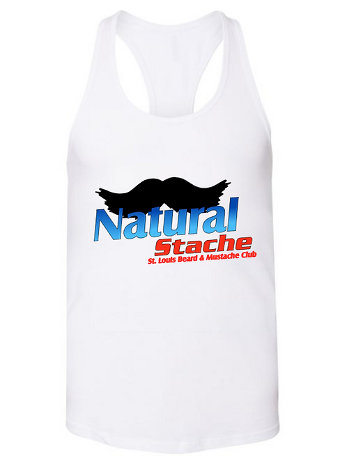 Natural Stache Lady's Tank