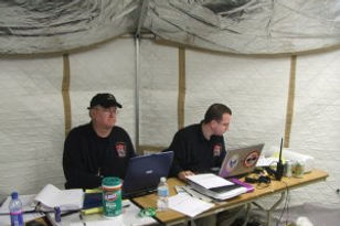 Personnel in Eureka Fire Protection District Command center