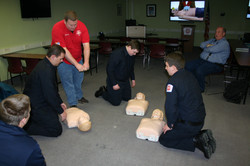 Jr. Firefighters learning CPR