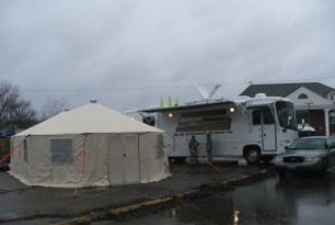 Command center tent