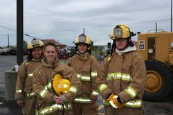 Jr. Firefighters smiling