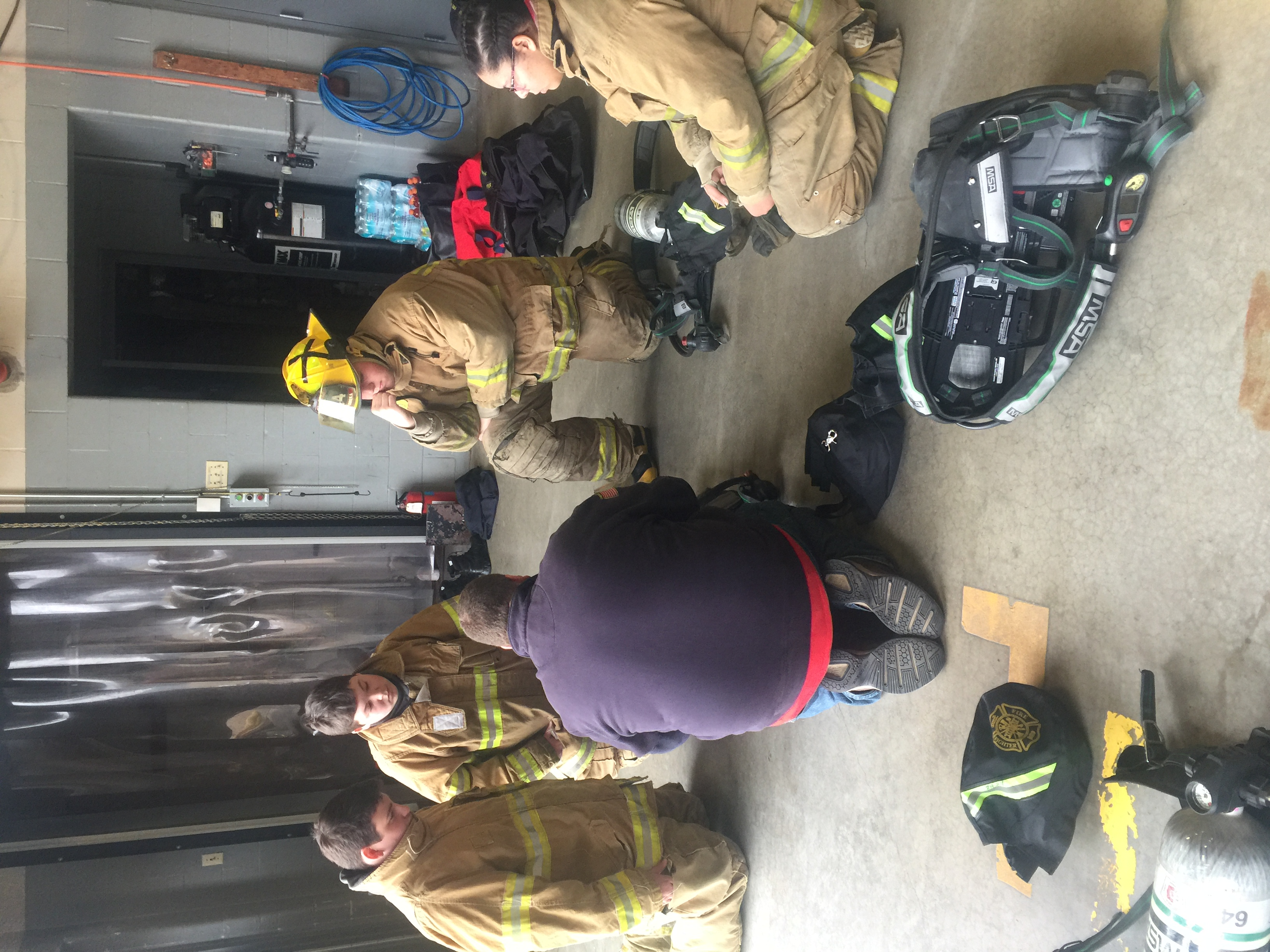Jr. Firefighter training