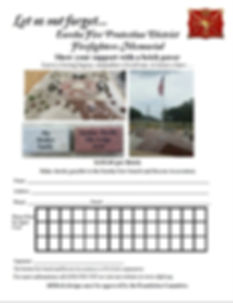 Eureka Memorial Pavers order form