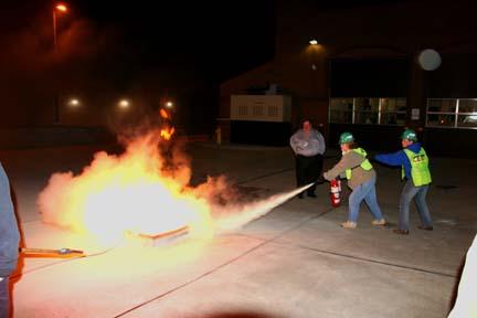 CERT fire training drills