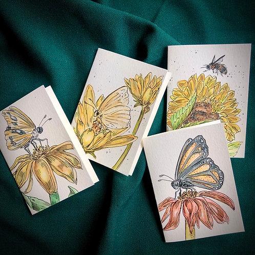 Pretty Pollinator notecards