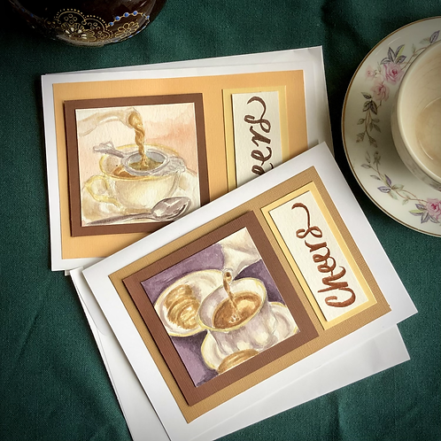 Cheers! Watercolor Greeting Cards