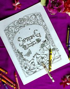 Sprung: A Springtime Coloring Book