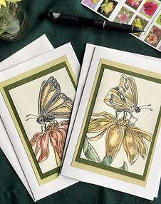 Pair of Pollinators Greeting Cards