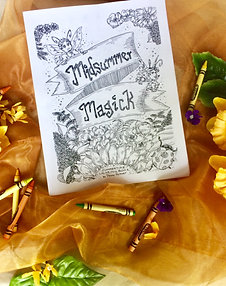 Midsummer Magick: A Summertime Coloring Book