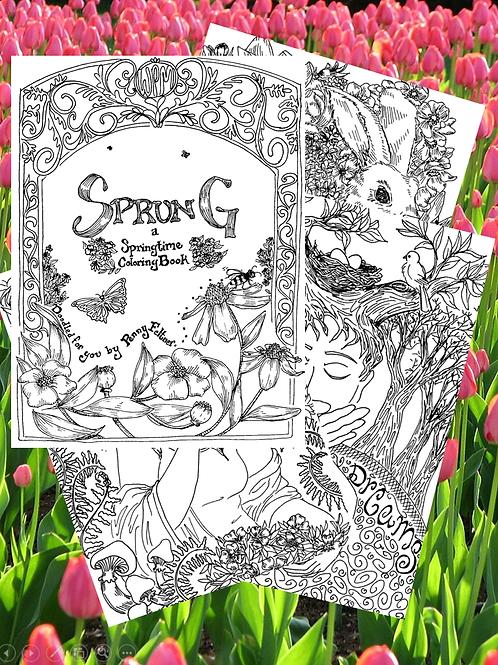 Sprung: a PDF Bouquet of Springtime Coloring Pages