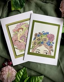 Garden Print Greeting Card Set