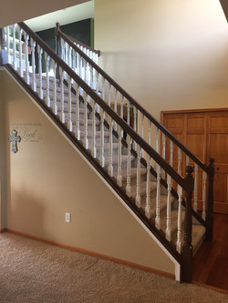 interior railing after