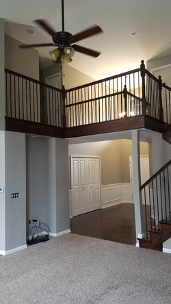 interior staircase after