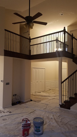 interior staircase before