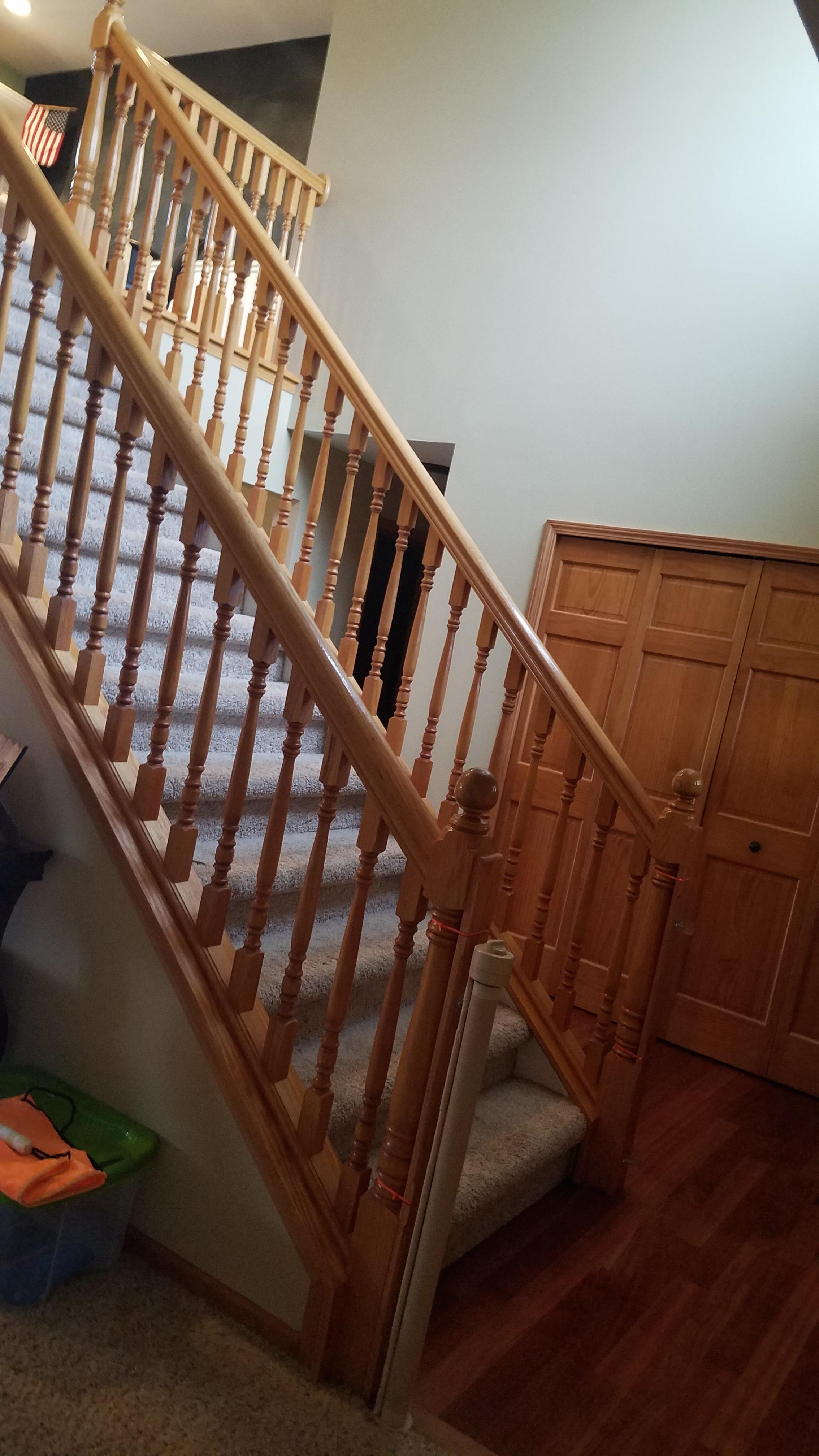 interior railing before
