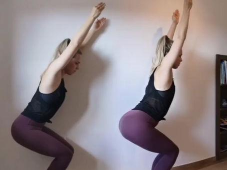 Kako narediti joga stol = Utkatasana 🪑
