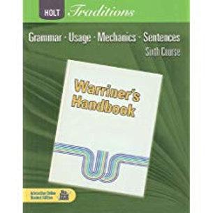 Warriner's Handbook: 6th Course - Student Edition