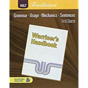 Warriner's Handbook: 1st Course - Student Edition