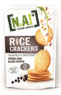 Rice Cracker al Pepe Nero - Gluten Free, Al forno