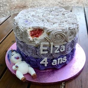 Nude cake violet