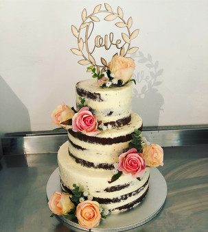 Naked cake floral nature