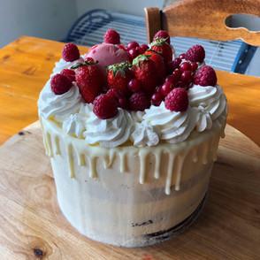 Nude cake blanc