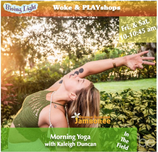 Limber your body, clear your mind, and lift your spirit with Kaleigh Fri. and Sat. morning.