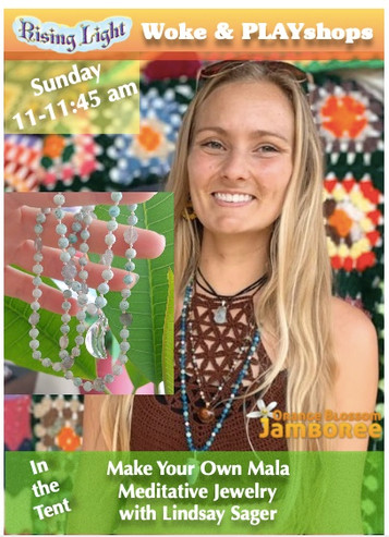 Lindsay Sager of Lightstone Creative will be teaching us how to make our very own meditation mala necklaces. Mala beads are a great tool to help focus your attention. They provide something tactile to come back to when your mind starts to wander. They're also an awesome souvenir to bring back with you.