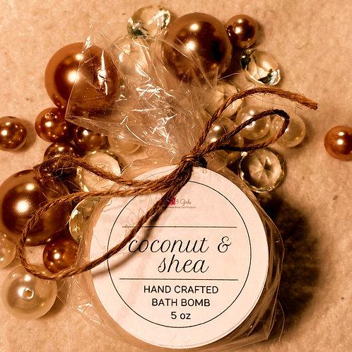 Coconut Oil & Shea Butter Bath Bomb