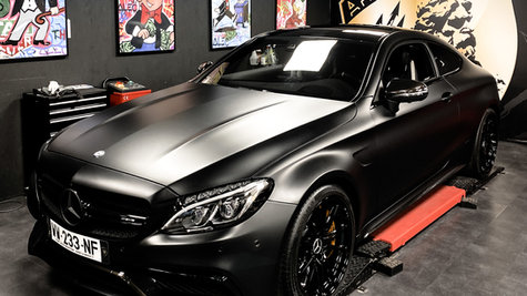 Mercedes C63 S satin black