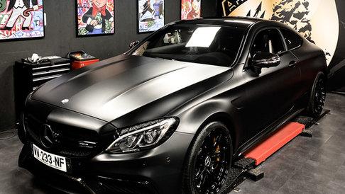 Mercedes C63 S satin black