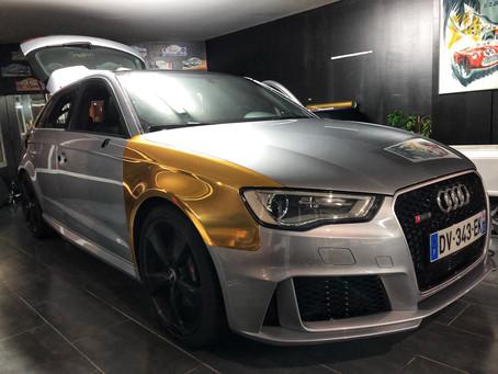 Audi RS3 Gold Chrome !