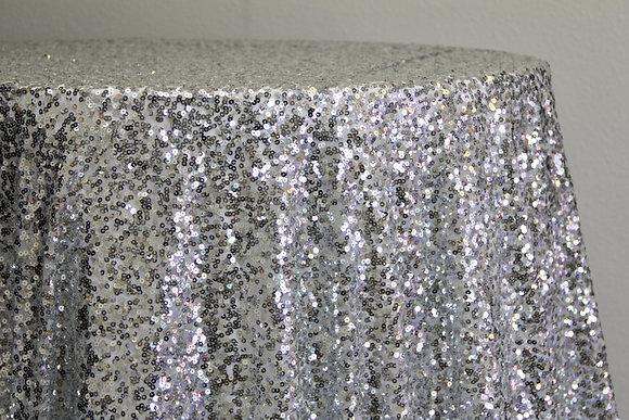 "90x130"" Silver Sequin"