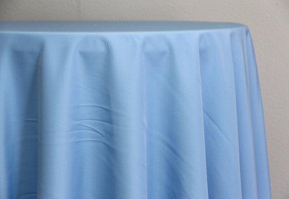 "108"" Ice Blue Polyester"