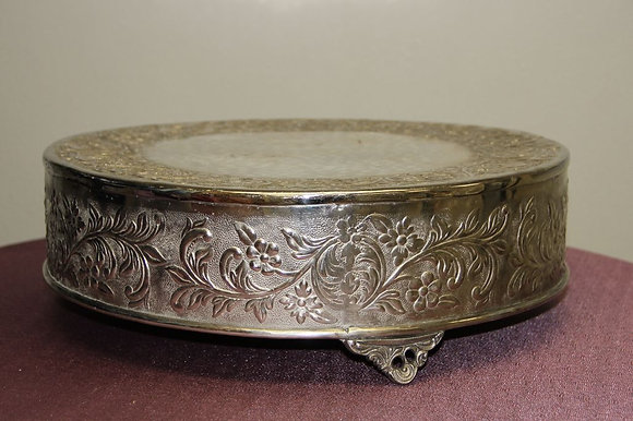 "18"" Silver Cake Stand"