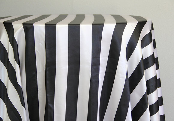 "120"" Black and White Striped"