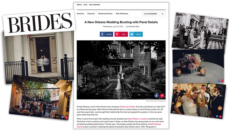 brides magazine, emily sullivan events was featured in brides magazine, emily sullivan events is a destination wedding planner based in new orleans louisiana