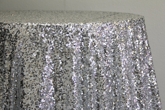"132"" Silver Sequin"